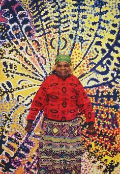 The incomparable LORNA FENCER - Much more info on our blog photo page and read her dreamtime stories on our website too.  Lorna was an powerful and amazing artist and individual - truly one of the great legends of Aboriginal Art.  Australian Aboriginal Art Centre | Aboriginal Art Blog