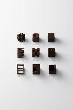 Nendo designed a special lounge during Maison & Objet that includes bespoke geometric chocolates. YUM!