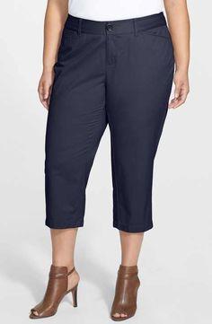 Sejour 'Addison' Stretch Crop Pants (Plus Size)