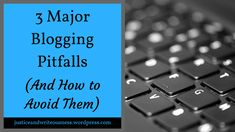 I love running a blog, but there are a few potential pitfalls to blogging. If left unchecked, they can lead to frustration with blogging and even writing in general, which is the exact opposite of what running a blog should do. Whether you're considering starting a blog, a new blogger, or a regular blogger who needs a reminder, here are three pitfalls I've encountered and how you can avoid them. Make Money Blogging, Way To Make Money, Multiple Streams Of Income, First Website, Top Blogs, Get Over It, Extra Money, Writing Tips, Business Tips