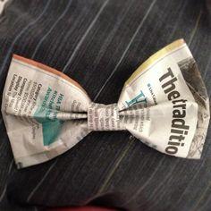Newspaper bow!