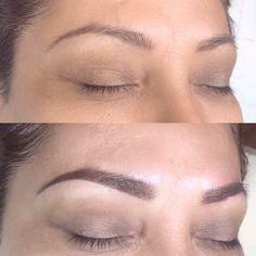 Semi Permanent Eyeliner, Permanent Makeup Eyebrows, Eyebrow Makeup, Makeup Eyes, Bad Eyebrows, Natural Eyebrows, Eyebrows On Fleek, Eyebrow Shading, Eyebrow Tattoo