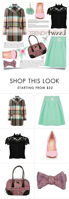"""""""Trendytweed !"""" by aida-banjic on Polyvore featuring Marni, Kenzo, Alice + Olivia, Gianvito Rossi, Prada, Topshop, women's clothing, women, female and woman"""