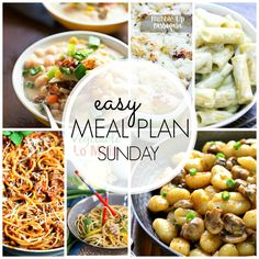 Get ready for some of the best food out there! Easy Meal Plan Sunday #38 has arrived. Eight bloggers, six main dish recipes, 2 desserts and a breakfast you can't resist.