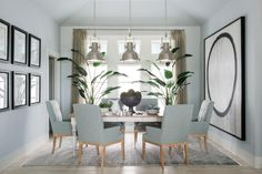 The muted color scheme and the well-chosen furniture and accessories work together to create a dining room that feels both comfortable and elegant.