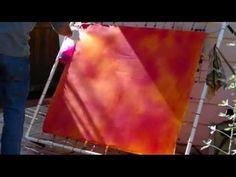 Making a tiger pelt design on silk