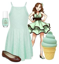 """""""Mint Chocolate Chip"""" by mynameis-secret ❤ liked on Polyvore featuring A Little Lovely Company"""