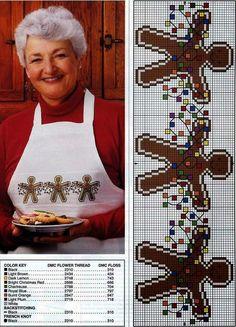 """Милые сердцу штучки: Новогодняя вышивка: """"Имбирные пряники"""" (подборка)"""