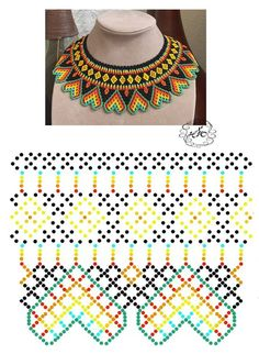 seed bead necklace patterns for beginners Brick Stitch Patterns, Seed Bead Patterns, Beading Patterns, Seed Bead Bracelets Diy, Beaded Bracelets Tutorial, Diy Necklace Patterns, Beaded Bracelet Patterns, Bead Jewellery, Jewelry Making Beads