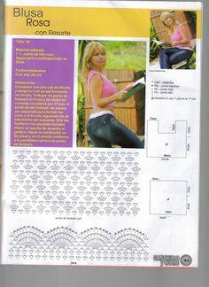 Delicadezas en crochet Gabriela: 18 Remeras en crochet
