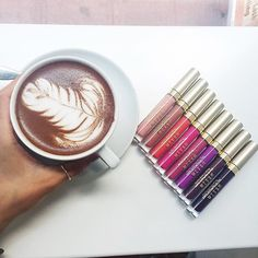 Breakfast beauties! ☕️👄 @coffeenclothes is taking over our snap chat this morning, touring the best NYC coffee shops & putting our Liquid Lipstick to the test! Follow us at @stilacosmetics for a special treat you won't want to miss! #stilasummer