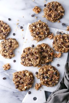These cookies are wholesome enough for breakfast, yet delicious enough for dessert! Gluten, dairy, and refined sugar free, plus vegan friendly too! Gluten Free Oats, Gluten Free Cookies, Cookies Vegan, Whoopie Pies, Breakfast Cookies, Breakfast Recipes, Paleo Breakfast, Mexican Breakfast, Breakfast Sandwiches