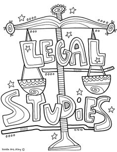 Subject Cover Pages Coloring Pages - Classroom Doodles Doodle Art Letters, Doodle Art Journals, Dance Coloring Pages, Coloring Book, School Book Covers, Binder Covers, Notebook Covers, Tangle Patterns, Study Skills
