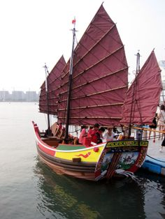 CHINESE JUNK BOATS | ... at this year's show, and a replica of an ancient Chinese junk (right
