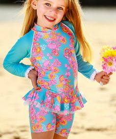 Loving this Sari Paisley Long-Sleeve Rashguard Set - Infant & Toddler on #zulily! #zulilyfinds