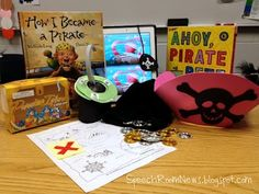Preschool Pirates!  Great speech therapy ideas from Speech Room News blog.