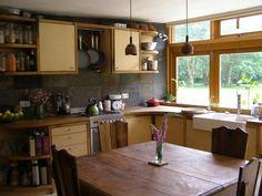 earthship kitchens | kitchen idea France Earthship | my dream home/ Earthship
