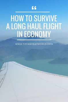 Tried and true tips on how to survive a long haul flight. First tip: read this post!  #travel #traveltips