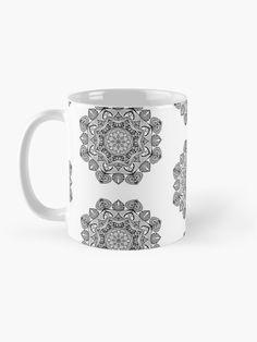 """Black Mandala Pattern - Just Let Go"" Mug by klyngiant   Redbubble Mandala Pattern, Mandala Art, Flow State, Letting Go, Let It Be, Mugs, Unique, Artist, Stuff To Buy"