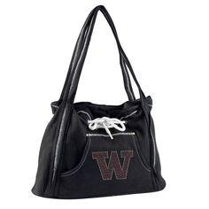 Washington Huskies NCAA Sport Noir Hoodie Purse