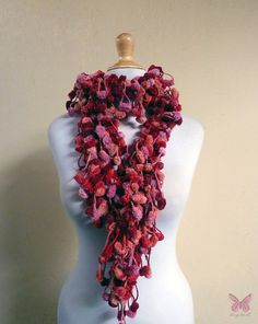 CHERRY & PINKS mulberry scarf  extra long by OriginalDesignsByAR, $16.95
