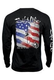 Salt Life® Men's L/S Hook Line Sinker Salt Wash Pocket T-Shirt
