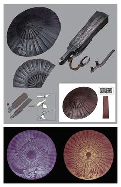 View an image titled 'Loaded Umbrella Art' in our Sekiro: Shadows Die Twice art gallery featuring official character designs, concept art, and promo pictures. Anime Weapons, Fantasy Weapons, Character Concept, Character Art, Arte Dark Souls, Umbrella Art, Sword Design, Bright Art, Weapon Concept Art