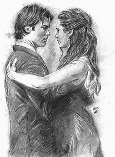 Delena, vampire diaries the originals, elena gilbert, art sketches, vampire Vampire Diaries Poster, Vampire Diaries Wallpaper, Vampire Diaries Cast, Vampire Diaries The Originals, Delena, Drawing Sketches, Art Drawings, Horse Drawings, Drawing Art