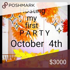Party Host October 4th  at 12pm PST Hello and Greetings, please like, share or tag yourself so I can check out your closet. Looking for Host Picks. Happy Poshing.  Only Poshmark compliant closets pls Other