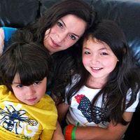 Jacqueline Burt with her kids