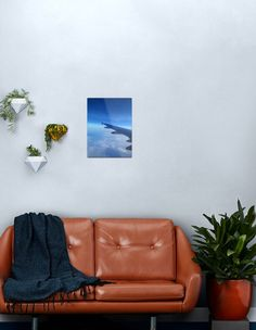 """""""Aeroplane in the sky"""" Metal Print by Gennydesigns   Redbubble Green Leaf Background, Background S, Mountain Sunset, Blue Mountain, Mountain View, Mountain Landscape, Blue Sky Clouds, Colorful Backpacks, Line Art"""