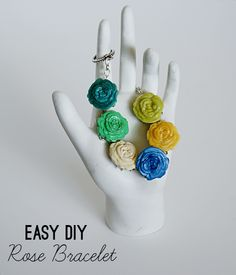 I don't like the colors but that is an easy fix. -- Make an easy diy rose bracelet with #modmelts #resinflowers @savedbyloves