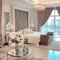 Modern Luxury Bedroom, Master Bedroom Interior, Room Design Bedroom, Modern Master Bedroom, Bedroom Furniture Design, Modern Bedroom Design, Luxurious Bedrooms, Home Bedroom, Fancy Bedroom