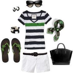 Black & Green Nautical Summer,
