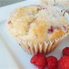 Raspberry, Lemon & Yogurt Muffins---These turned out REALLY good and super moist. I substituted a 1/2 cup of the flour with whole wheat flour and I omitted the lemon extract and just added a bit more lemon zest (I zested the whole lemon and juiced half). These would also be good with shaved almonds on top.