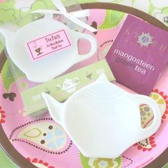 """It's Tea Time!"" Porcelain Teapot Dish"
