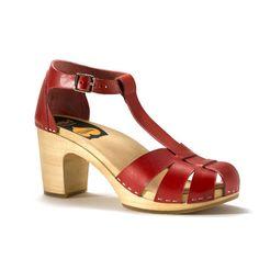 Duck Toe Sandal Red - Swedish Hasbeens