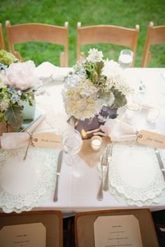 More of the same pale green themed tablescape
