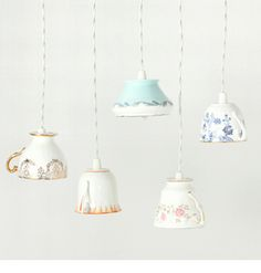 Every Light Thing. LOVE THIS IDEA but could be tricky drilling a hole in ceramic ...mmmm