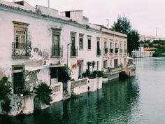 Riverside homes in Tavira, Portugal