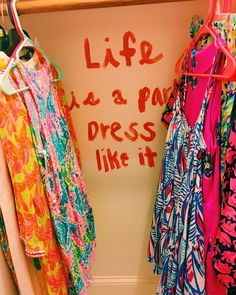 To spice up your room! #lillypulitzer #closet #preppy