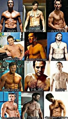 I know the Marvel men get a lot of love in here so enjoy! Paul Bettany Sebastian Stan Paul Rudd Jeremy Renner Benedict Cumberbatch Robert Downey Jr Chris Pratt Mark Ruffalo Tom Hiddleston Chris Evans Chris Hemsworth and Tom Holland! Marvel Man, Marvel Avengers, Avengers Humor, Marvel Jokes, Films Marvel, Man Thing Marvel, Marvel Funny, Marvel Dc Comics, Marvel Heroes