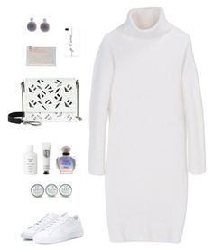 """DKNY White Wool Turtleneck Dress"" by sol4ange ❤ liked on Polyvore featuring Kenzo, Humble Chic, NIKE, DKNY, Aspinal of London, Casetify, Christian Dior, Diptyque and Fresh"