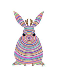 Colorful Jackalope Print  Tribal Pattern by AngelSzafranko on Etsy, $15.50