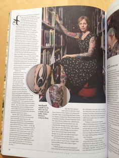 """I'm one of the tattooed librarians featured in an article inThings & Ink,a magazine that """"celebrates tattoo culture with a feminine twist"""" I'm a systems librarian working in a university library in London."""