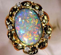 QUALITY BLACK SOLIDOPAL 18K GOLD RING 65.5 CTS JJ JEW-2  diamond encrusted opal ring