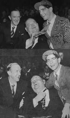 Laurel & Hardy with Norman Wisdom I grew up watching these Stan Laurel Oliver Hardy, Laurel Und Hardy, Great Comedies, Classic Comedies, British Comedy, English Comedy, Norman Wisdom, Sound Film, Comedy Duos