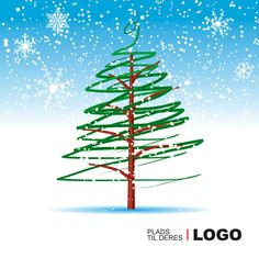 Julekort uden støtte. Motiv: Juletræ, julepynt, firmajulekort, firma julekort, erhvervsjulekort, julekort til erhverv, julekort med logo, julekort, velgørenhedsjulekort, julekort med tryk