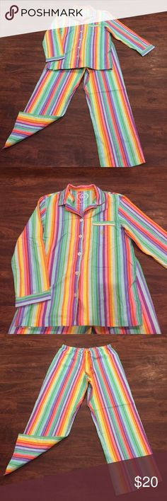 Victoria's Secret Colorful Flannel Pajama Like new Victoria's Secret Intimates & Sleepwear Pajamas