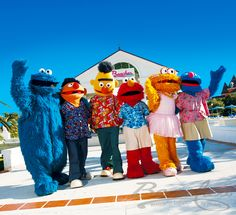 Cookie Monster, Bert & Ernie, Elmo, Zoe, and Grover at Beaches Resorts!